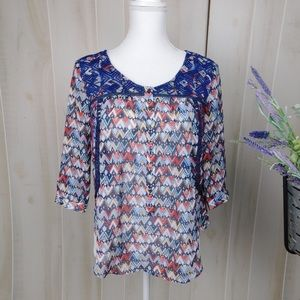 Vanessa Virginia Embroidered Patterned Blouse
